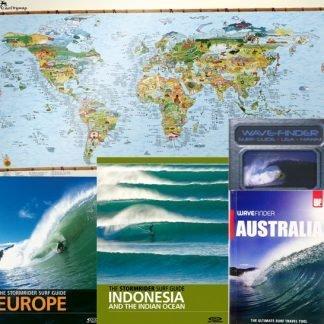 Surf-Reise-Führer und Karten